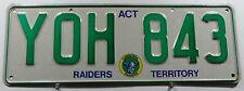 "Nummernschild Australien ACT ""CANBERRA RAIDERS TERRITORY"". 12455."