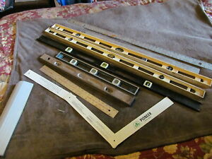 Fabulous Lot Of Vintage & Modern Levels & Mayes Metal Rulers - Must See!!!!!