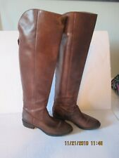 Arturo Chiang  Brown Leather Tall Riding Boots Size 7
