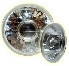 """Universal Projector H4 7"""" Round Semi Sealed Beam Headlights with Parker Lamp 4x4"""