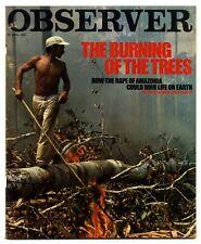 Observer Magazine 22 April 1979 Rape of Amazonia MG Ramachandran Robin Lustig
