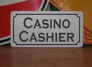 CASINO CASHIER Metal Sign