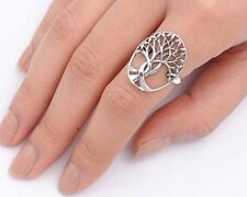 USA Seller Tree of Life & Leaf Ring Sterling Silver 925 Best Deal Jewelry Size 9