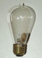 1911 Clear Glass Edison GEM Balloon Light Bulb w/ Original Paper Label 30w 113v