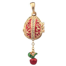 Faberge Egg Pendant / Charm with Cherry 2.1 cm red #2-1024-05