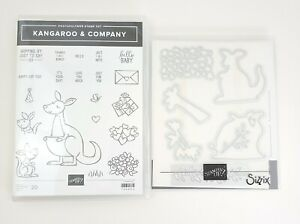 Stampin Up! Kangaroo & Company Stamps & Animal Friends Dies Baby Thanks Love
