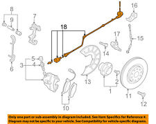 VW VOLKSWAGEN OEM GTI ABS Anti-Lock Brakes Front-Sensor Wire Left 1K0927903R