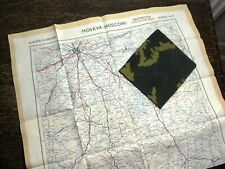 VINTAGE 1952 BRITISH SILK ESCAPE MAP OF RUSSIA  IN BRITISH COPY SOVIET CAMO  PKT