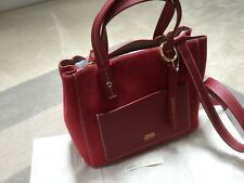 Frances Valentine Small Chloe Red Leather/Suede Bag -New