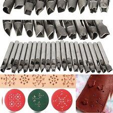 20 Stlyes Leather Shape Punch Stamp Hollow Hole for Wallet Bag Belt Gasket 6mm