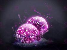 PAINTING NEON PINK MAGIC MUSHROOMS POSTER ART PRINT LV10548