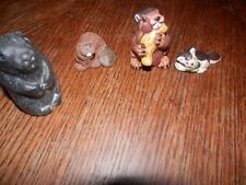 Lot of 4 Beaver Miniatures, Largest Measures 2 inches High