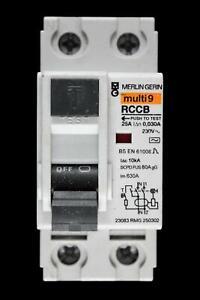 MERLIN GERIN 25 AMP 30mA DOUBLE POLE RCCB RCD 23083 RMG 250302