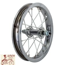 "WHEELMASTER   12-1/2"" x 2-1/4"" CHROME BICYCLE FRONT WHEEL"