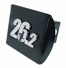 26.2 Marathon Runner Black Trailer Hitch Cover Quality Made in the USA *NEW*