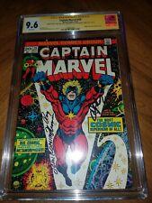 Captain Marvel 29 cgc ss 9.6 white pages Romita, Starlin , Thomas Thanos
