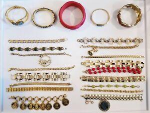 Vintage Mod Bracelet LOT Monet Napier JBK Coro Rivo Swiss Sarah Coventry Avon+