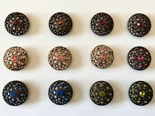 Ginger Snaps Lot of 12 GingerSnaps Snap Charms, Mae Flower Variety
