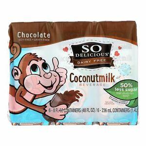 So Delicious Coconut Milk - Chocolate Organic Dairy Free - 6pk - Case Of 3 - 6-8