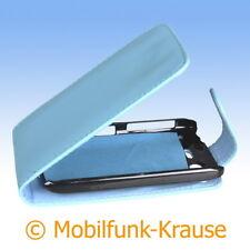 Flip Case Etui Handytasche Tasche Hülle f. HTC Desire S (Türkis)