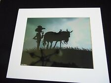 VINTAGE PRINT FROM MONTANA BLUE SKY GALLERY , ARTIST SIGNED MIKE MARTINS