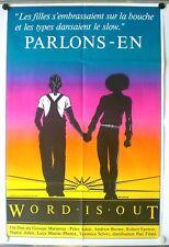 WORD IS OUT- PARLONS EN – DOCUMENTAIRE GAY & LESBIEN- AFFICHE ORIGINALE – 1979