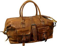 Reisetaschen aus Leder mit extra Fächern