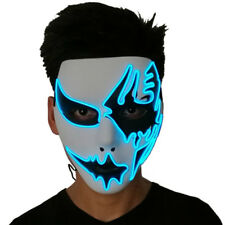 LED Luminous Face Mask Party Masks Light Up DJ Party Dance Costume Ball Cosplay