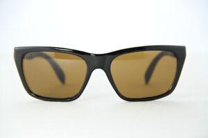 Vintage Vuarnet 006 Large Black Sunglasses PX2000 Brown lens