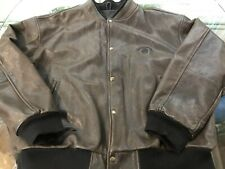 Jack Daniels Logo vintage leather Bomber Jacket XXL