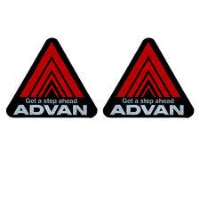 Reflextive 2Pc ADVAN Red Racing Get a Step Ahead Car Window Vinyl Sticker Decals
