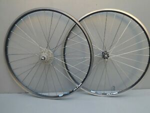 Rigida Flyer Road  Bicycle 8 Speed 700c Wheel Set - Black Rims and Hubs