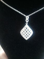 DIAMOND ACCENT PENDANT IN PLATINUM OVER STAINLESS STEEL