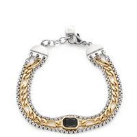 Leonardo Schmuck Armband CIAO Peppina 018178 Doppelte Armkette Farbe Gold grün