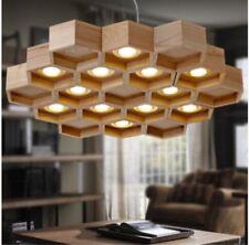 Modern LED wood Light Dining room Chandelier Bedroom Pendant Lamp Fixtures Yc