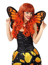 LADIES BEAUTIFUL ORANGE BUTTERFLY WINGS FOR COSTUME FANCY DRESS OUTFIT NEW 50CM