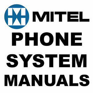 Huge MITEL Telephone Manual Voice Mail PHONE SYSTEM Programming MANUALS on a DVD