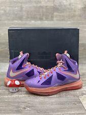 Nike Air Lebron X 10 ASG All Star Area 72 Purple Orange Galaxy 583108-500 Sz 9