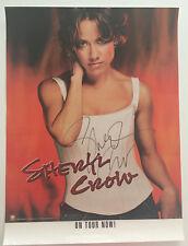 "Sheryl Crow Autograph Signed Tour Poster 18"" x 24"""