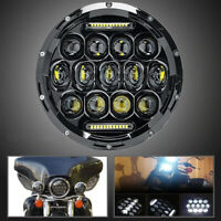 "7"" LED Black Headlight For Kawasaki Vulcan VN 500 750 800 900 1500 1600 1700"