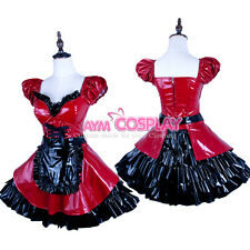 PVC lockable sissy maid vinyl dress Unisex  tailor-made[G1578]