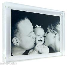 magnétique Acrylique Transparent CADRE PHOTO IMAGE 17.8x12.7cm debout haute