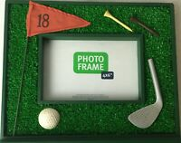 Golf Photo Picture Frame 3D 4x6 Photo  10 x 8.5 Tee Putter Flag Ball Green Base