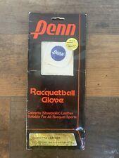 Men's Penn Racquetball Glove Cabretta Sheepskin Leather, White Small (right)