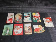 Old Vtg CHRISTMAS GREETING CARDS Holiday Set 9 Arts Crafts Personalized