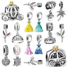 European Beautiful Princess Dress Charms Bead Fit 925 Silver Bracelets Necklace
