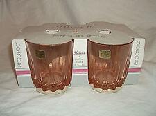 4 Arcoroc HUSSARD Pink On The Rocks Glasses Tumblers 10 1/2 oz.