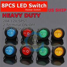 1PC 12V 20A Car Auto Green LED Light Toggle Rocker Switch 3Pin SPST ON//OFF JL