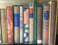 Lot of 10 Heritage Press Sandglass Antique Books most w/Slipcovers & Pamphlet