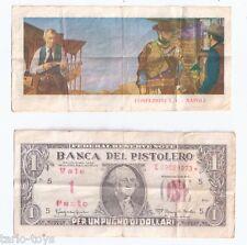 PER UN PUGNO DI DOLLARI 1964  clint eastwood banconota figurina promo ticket